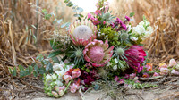 A boho bridal bouquet by Bohotanical a ethical florist based in Kent